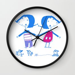Emma and Luvi Wall Clock