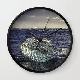 Jokulsarlon Lagoon Beach 02 Wall Clock