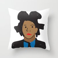 basquiat Throw Pillows featuring Basquiat by John Sailor
