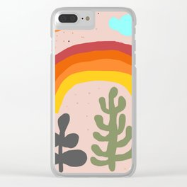 autumnal rainbow Clear iPhone Case
