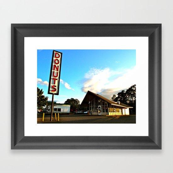 Little House of Donuts Framed Art Print
