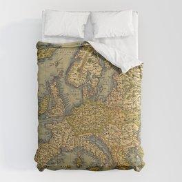 Vintage map of Europe Comforters