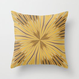 Yellow and Ochre Flower Pattern Abstract 2 Throw Pillow