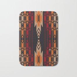 Latin American ethnic ornament, pattern, mosaic, embroidery. Bath Mat
