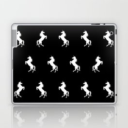 Black And White Unicorns Laptop & iPad Skin