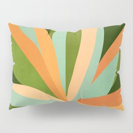 Colorful Agave / Painted Cactus Illustration Pillow Sham