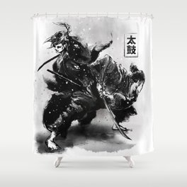 Taiko - Dance of the swords Shower Curtain