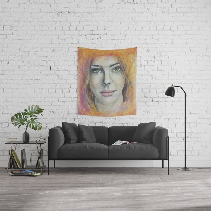 Frosted Windows of Color Wall Tapestry