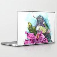 hibiscus Laptop & iPad Skins featuring Hibiscus by Maria Trillidou