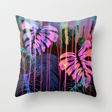 Drippy Jungle {acid} Throw Pillow