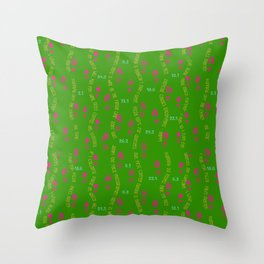 Positive Running Vibes on Green Throw Pillow