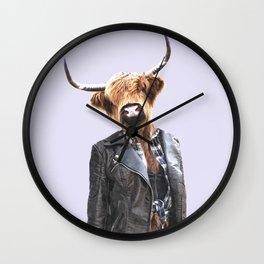 Cow Girl Wall Clock