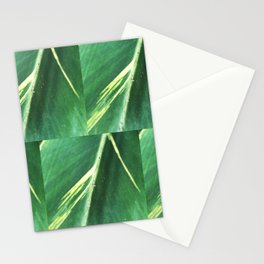Modern Leaf Tiles Stationery Cards