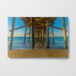 Under Balboa Pier Metal Print