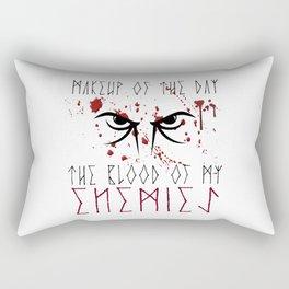 Makeup of the day: The blood of my enemies   Viking design Rectangular Pillow