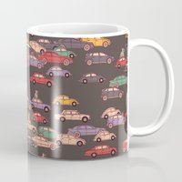 mercedes Mugs featuring Never-ending traffic jam by smallDrawing