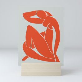 Blue Nude in Orange - Henri Matisse Mini Art Print