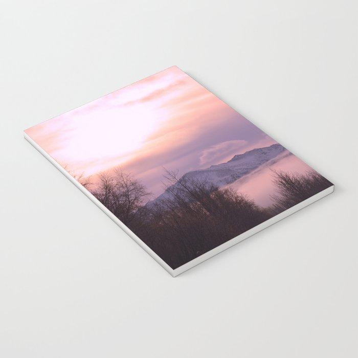 Rose Serenity Winter Fog Notebook