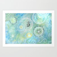 """Good vibes"". Ocean Vibes Artwork collection by Indiga Ethnik Art Print"