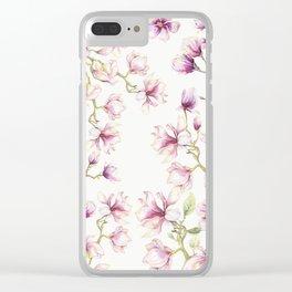 Delicate Magnolia 2 Clear iPhone Case