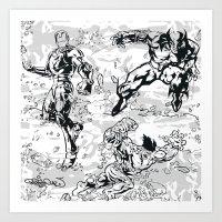 comics Art Prints featuring Comics by Burg