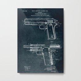 1910 - Firearm patent art Metal Print