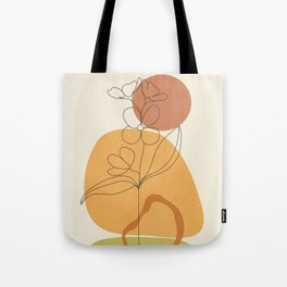 Minimal Abstract Flowers 03 Tote Bag