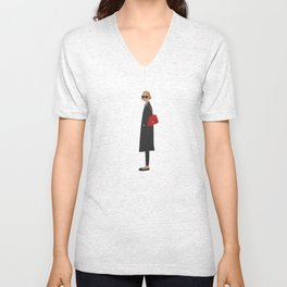 New Yorker, fashion illustration, fashion, girly, art print Unisex V-Neck