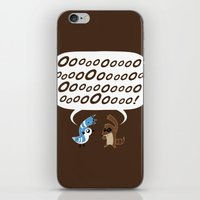 regular show iPhone & iPod Skins featuring Regular Show - Mordecai and Rigby by Joel Jackson
