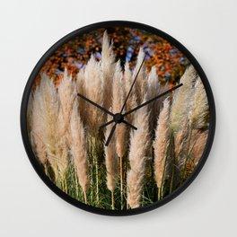 Pampas Grasses Wall Clock