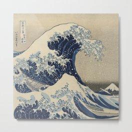 Under the Wave off Kanagawa, 1830/33 Metal Print