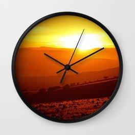 Golden African Morning Wall Clock