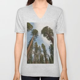 Redwood Sky - Giant Sequoia Trees Unisex V-Neck