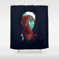 the walking dead Shower Curtains featuring Glenn - The Walking Dead by Dr.Söd