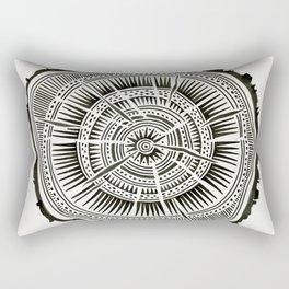 Paper Birch – Black Tree Rings Rectangular Pillow