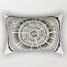 Paper Birch – Black Tree Rings Rectangular Pillow