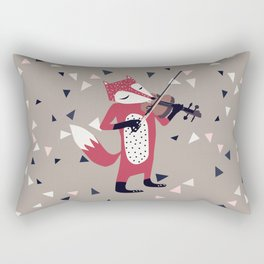 red foxy violinist Rectangular Pillow
