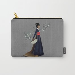 Modern Woman in Kimono Carry-All Pouch