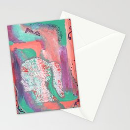 Growth Abstract Painting Stationery Cards