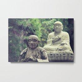 2 Statues  Metal Print