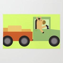 Horse on Truck Rug