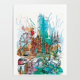 Colours of Melbourne Poster