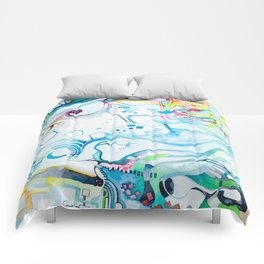 Fibroblasts - Watercolor Painting Comforters