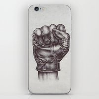 fight iPhone & iPod Skins featuring FIGHT by Lassana