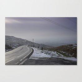 Snow along Halifax Road, Rochdale Canvas Print
