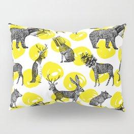 half animals pattern Pillow Sham