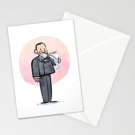 Louis Pasteur & Milkshake Stationery Cards