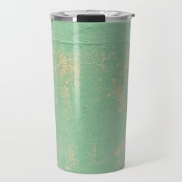 Green Patina Wall Grunge Texture Pattern Marbled Chippy Paint Mexico Mexican Vintage Travel Mug