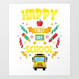Instant School Bus Driver Just Add Coffee Motive Art Print