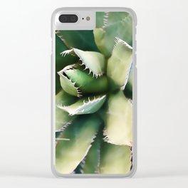 Cactus Close-Up Clear iPhone Case